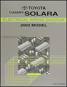 2002 Toyota Camry Solara Electrical Wiring Diagram Manual