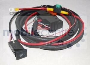 Land Rover Defender heated windscreen wiring kit with switch Td4 Puma & Td5 | eBay