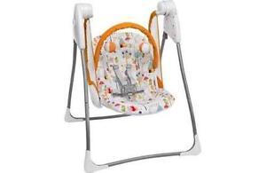 graco swing chair zebra sling motion patio chairs swings bouncers ebay baby delight