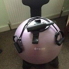 Fitball Balance Ball Chair Round Base Fit Gaiam In Newport Pagnell