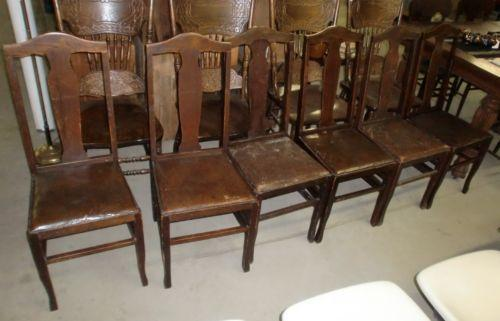antique oak dining chairs folding chair bed ikea ebay