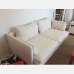 Fabric Corner Sofa Cheap Uk Rv Air Bed Sleeper Ikea Soderhamn 3 Seater 'natural' Cream Off White ...