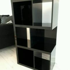 Black High Gloss Living Room Furniture Rugs For Area Next Unit Bookcase Almost New