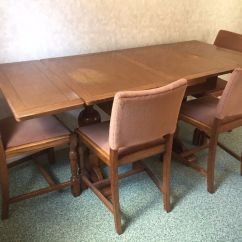 Dining Room Table And Chairs Gumtree Folding Warehouse Extendable Wooden 4 In
