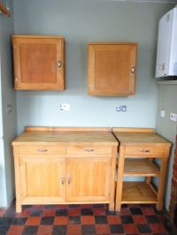 HABITAT OLIVA SOLID BEECH FREE STANDING KITCHEN UNITS FOR ...