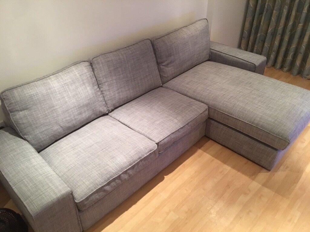 leather corner sofas on finance charlotte nc ikea kivik sofa, 8 month old in isunda grey - like brand ...