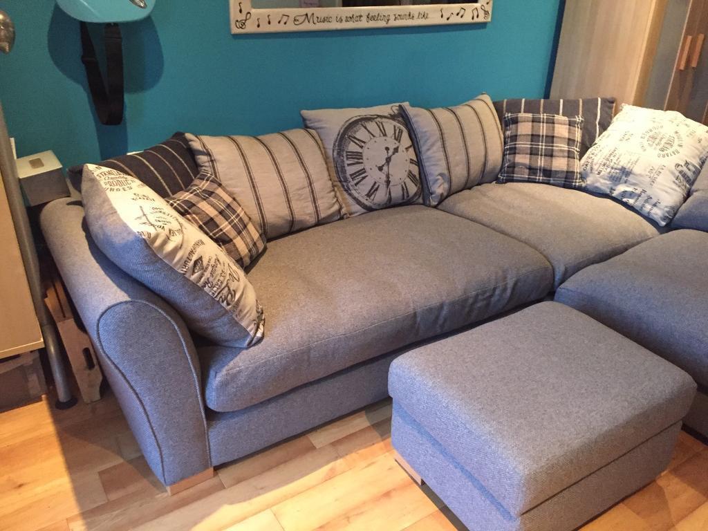 grey leather corner sofa dfs wood floor 39clock 39 in plymouth devon gumtree