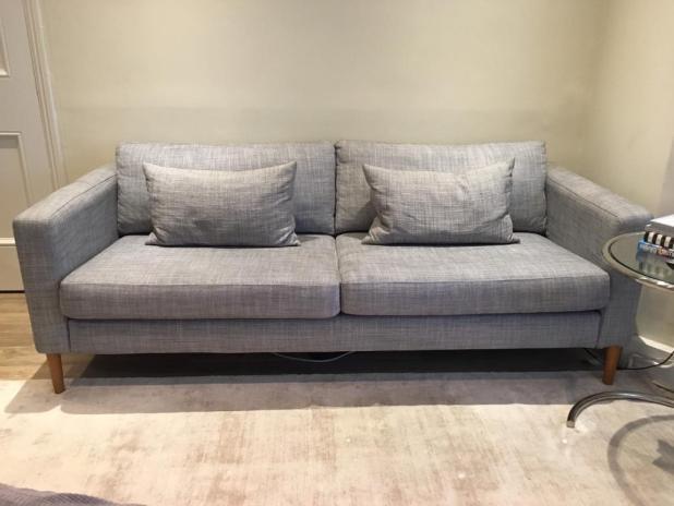 Karlstad Cover Three Seat Sofa Isunda Grey Www