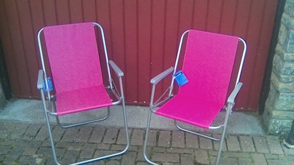 folding picnic chairs b q office chair bali pink x 2 in inverurie aberdeenshire gumtree