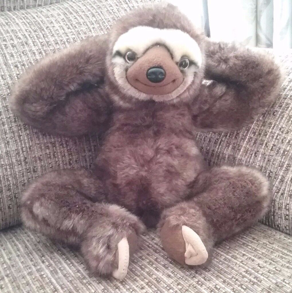 neal sofaworks teddy antique brown chesterfield sofa the sloth soft toy neil sofology in