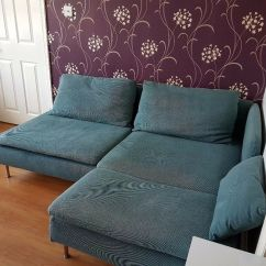Black Leather Chair Ikea Swivel And Ottoman Sofa Soderhamn 1 Year Old- Great Condition. Turquoise | In Luton, Bedfordshire Gumtree
