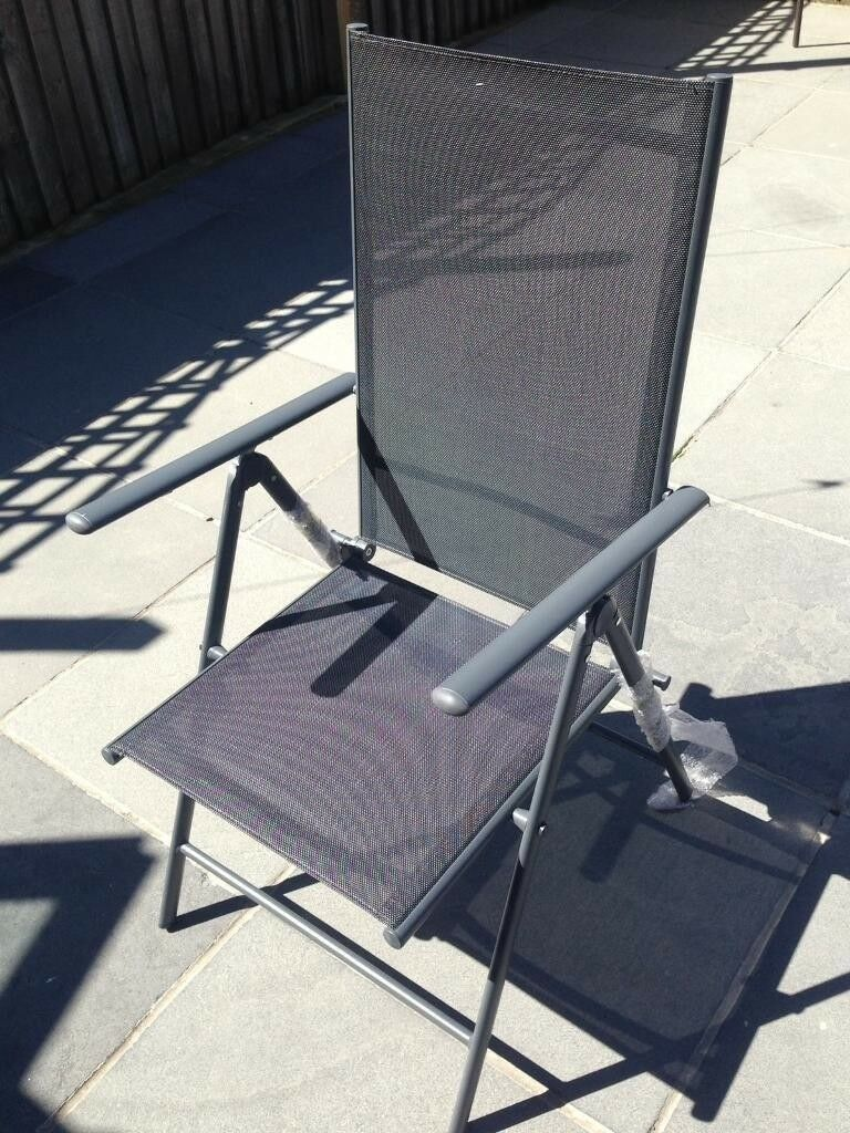 fold up chairs tesco ergonomic for office new with tag seville reclining garden chair in city of