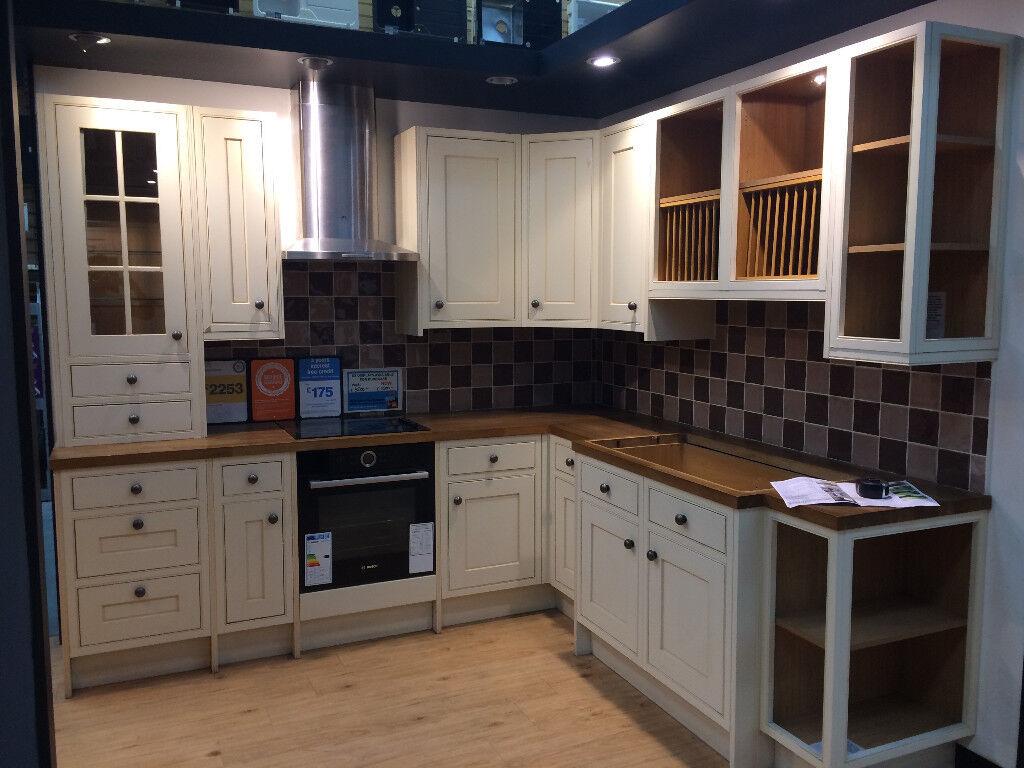 b&q kitchens kitchen fluorescent light details about ex display fitted b q cooke lewis woburn range modern farmhouse