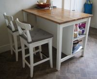 "Kitchen Island/Breakfast bar with stools (IKEA ""Stenstorp ..."