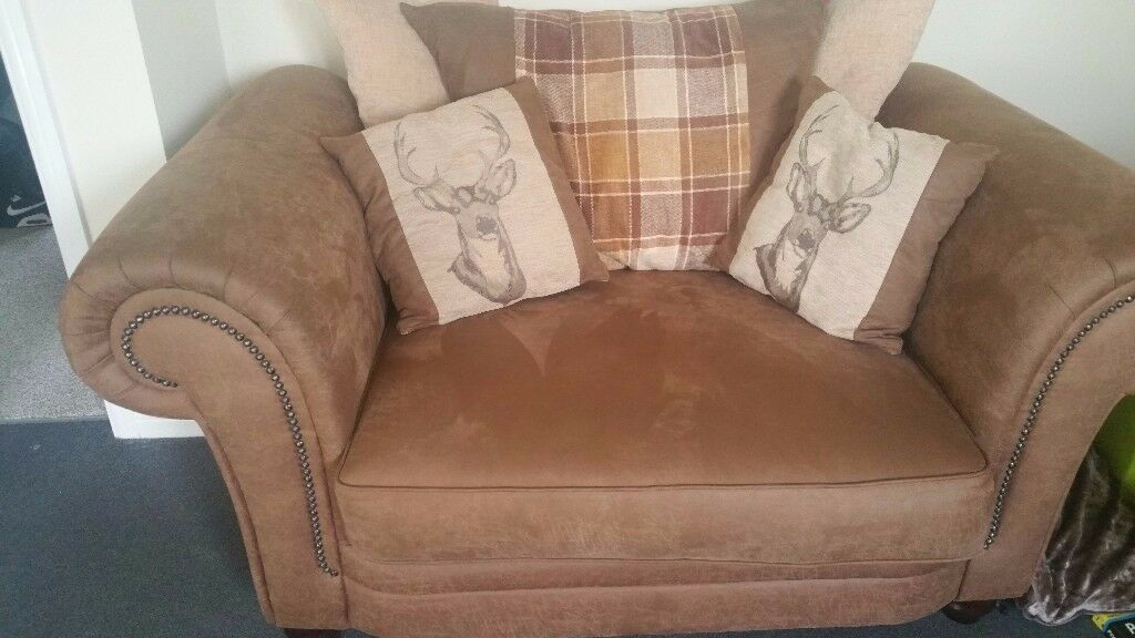 SCS Abbey scatter back 3 seat sofa plus matching Love