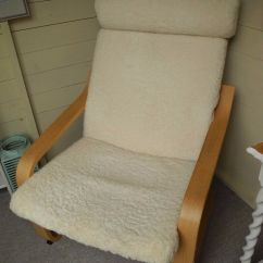 Wicker Rocking Chairs Steel Chair With Pad Ikea Poang Chair, Sheepskin Cushions. | In Winchester, Hampshire Gumtree