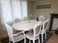 Stunning Italian shabby chic dining table and 6 chairs ...