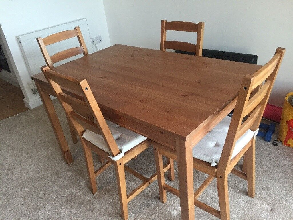ikea dining table chair covers posture wedge seat cushion jokkmokk solid pine and 4 chairs with 8