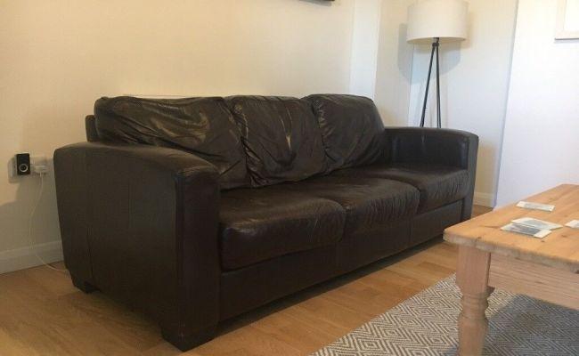 Dante 3 Seater Leather Sofa Furniture Village In Norwich