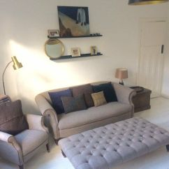 Harris Tweed Bowmore Midi Sofa L Shape Set Images Reduced For Quick Sale Tetrad Armchair Footstool