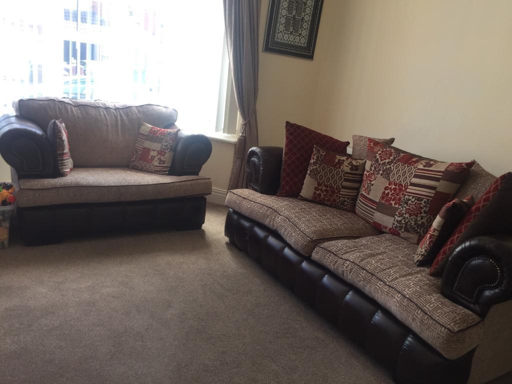 2 seater love chair white bucket scs 3 sofa and in newcastle tyne