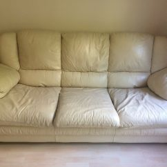 Free Sofa Bed Newbury Night And Day Convertible For Collection Cream Leather In Abingdon
