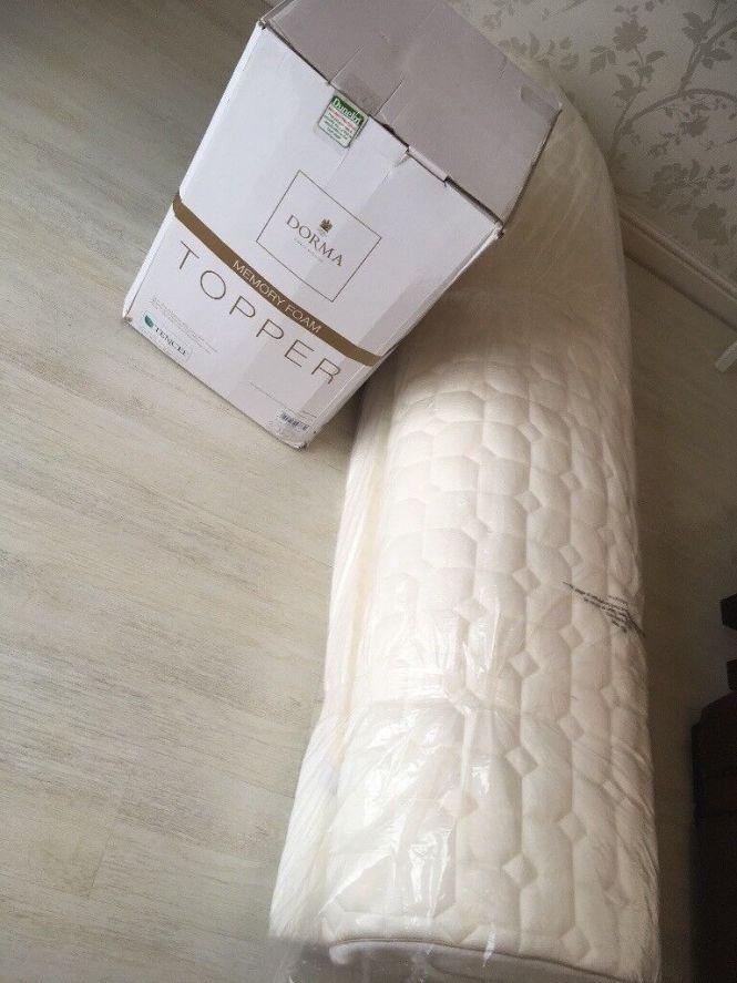 Dorma Tencel Brand New Memory Foam Mattress Topper Kingsize