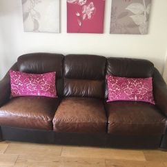 Sofitalia Leather Sofa Giant Bean Bag Uk Now Reduced For Sale Brown 3 And 2 Seater Sofas