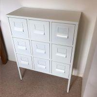 White Ikea SPRUTT metal office cabinet/ drawers | in ...