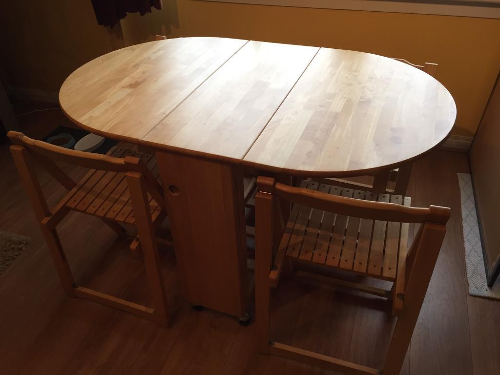 rubberwood butterfly table with 4 chairs clearwater beach chair rentals good quality drop leaf folding dining and