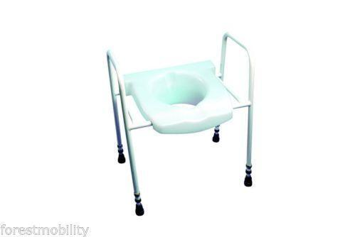 pvc commode chair swing gumtree perth disabled toilet seat | ebay
