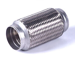"3"" x 4"" inch Exhaust Flex Tube Joint Flexi Pipe Repair"