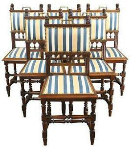 antique oak dining chairs chair covers malta ebay