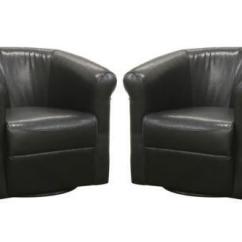 Swivel Club Chair Mainstays Large Microsuede Saucer Ebay