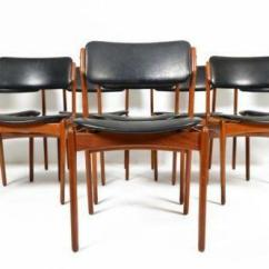 Erik Buck Chairs Blue Pattern Accent Chair Antiques Ebay