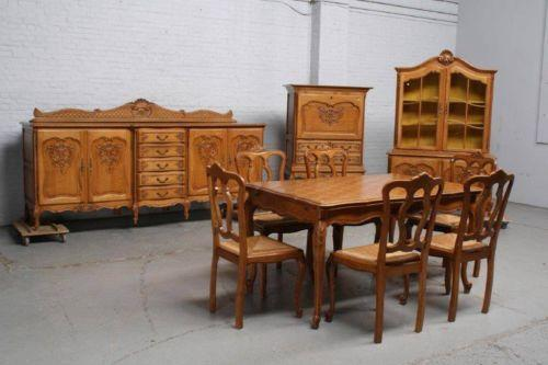 Antique Oak Dining Room Set  eBay