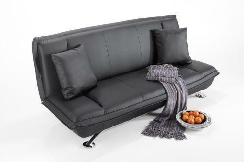 2 Seater Black Leather Sofa Bed Ebay