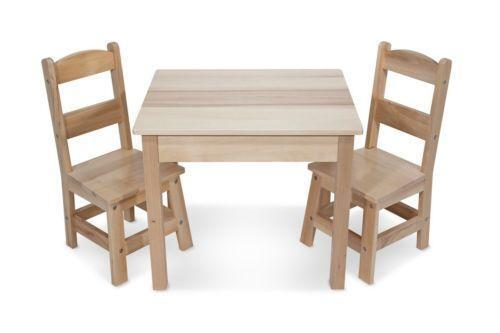Kids Wooden Table and Chairs  eBay