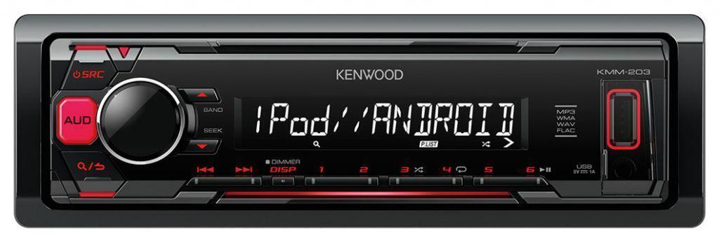 Kenwood KMM-203 - MP3-Autoradio mit USB / AUX-IN / iPod - KMM 203
