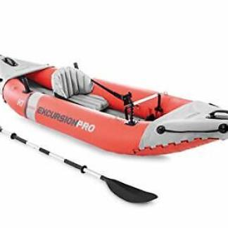 Intex 1 Person Inflatable Excursion Pro Kayak w Aluminum Oars, Air Pump 68303EP