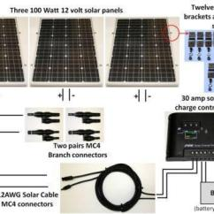 Solar Wiring Diagram Off Grid 1996 Lexus Es300 Fuse Box 300 Watt Panel | Ebay