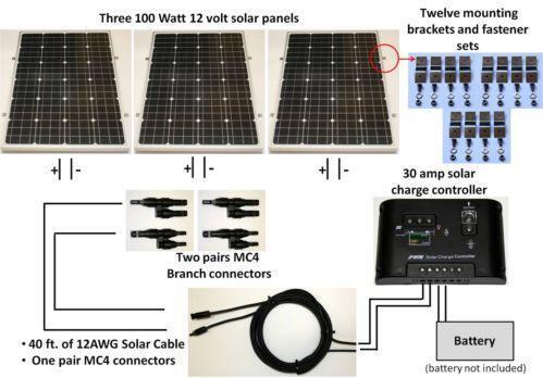 6 Wire Trailer Connector Diagram 300 Watt Solar Panel Ebay