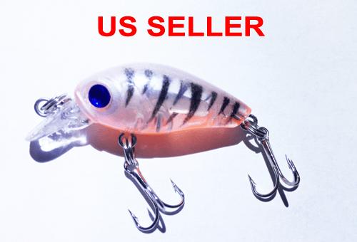 USA Lot PCS Fishing Lures CrankBaits Hooks Baits Tackle Spinner frog shrimp Box 5