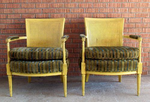 antique cane seat dining chairs graco glider chair back | ebay