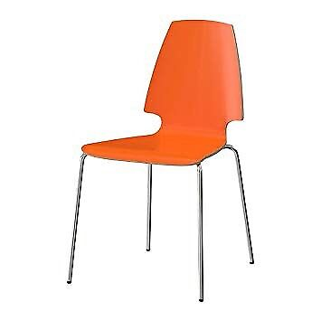 ikea dining chair swing for bedroom set of 4 orange chairs in frimley surrey gumtree
