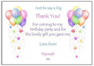 Birthday Thank You Cards EBay