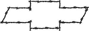 LARGE-Chevy-Bowtie-Barbed-Wire-Theme-Vinyl-Decal-Your