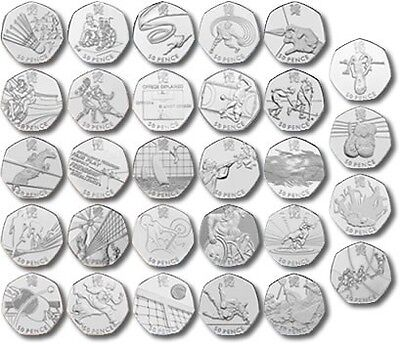 London Olympic 50p Coins Set, 2012