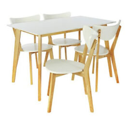 vilmar chair instructions steel price in chennai 4 ikea chairs white with chrome legs coventry west home harlow dining table and