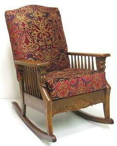 old fashioned rocking chairs stool chair with arms antique ebay oak